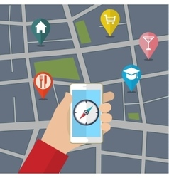 Gps concept in flat style vector