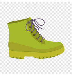 green leather shoe icon flat style vector image