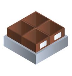 grocery empty box icon isometric style vector image
