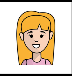 Happy girl woman avatar vector