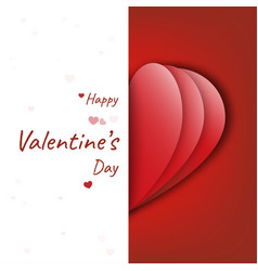 happy valentines day decoration cute design with vector image
