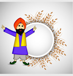 Hindu festival lohri vector