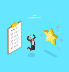 Isometric concept goal achievement vector