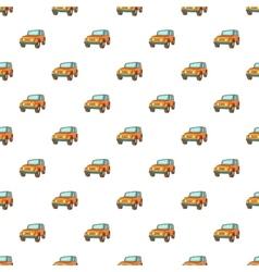 Jeep pattern cartoon style vector