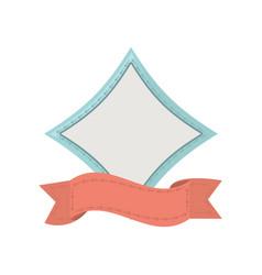 label ribbon decoration template vector image
