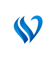 Letter v abstract sign logo vector
