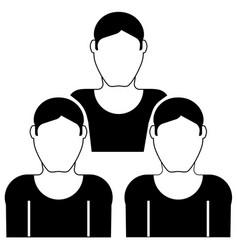 mans icon vector image