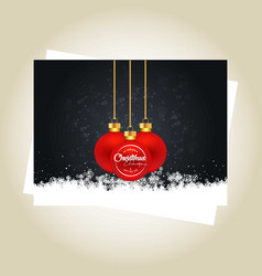 merry christmas card with light background and vector image
