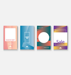 modern business geometric template covers vector image
