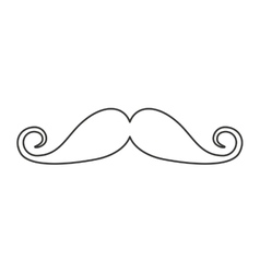 mustache chef isolated icon vector image