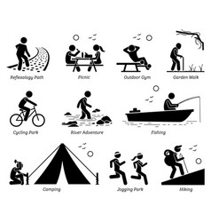 Outdoor recreation recreational lifestyle and vector