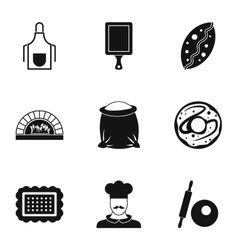 Pastries icons set simple style vector