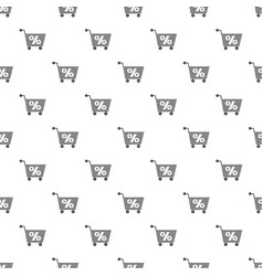 Percent trolley pattern seamless vector