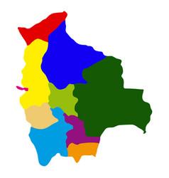 politicla map of bolivia vector image vector image