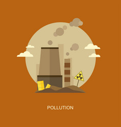 Pollution flat banner vector