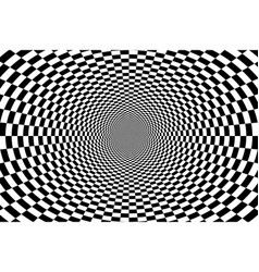 Psychedelic optical spiral with radial rays vector
