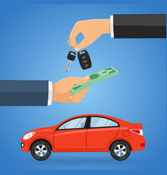Purchase buy sharing car vector