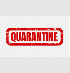 quarantine text isolated transparent background vector image
