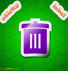 Recycle bin Reuse or reduce icon sign Symbol chic vector image