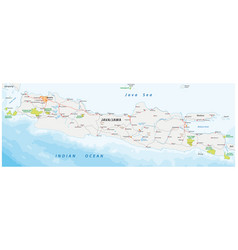 road and national park map indonesian vector image