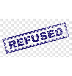 Scratched refused rectangle stamp vector