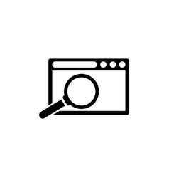 search browser window flat icon vector image