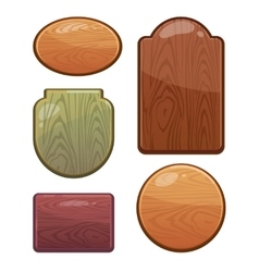 set wooden boards with different shapes vector image