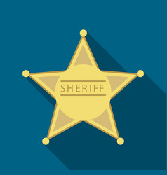 sheriff icon flate singe western icon from the vector image