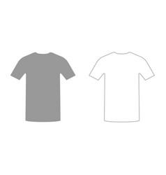 Shirt grey set icon vector