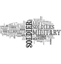 Soldier word cloud concept vector