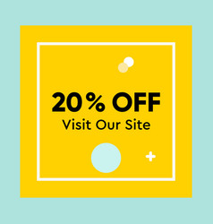 Special offer discount up to 20 percent off vector