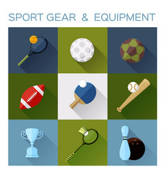 sport gear flat icon converted vector image