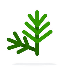 sprig dill flat isolated vector image