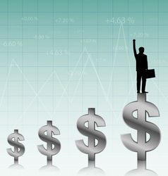 Success of the businessman vector