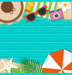 summer holiday background season vacation vector image