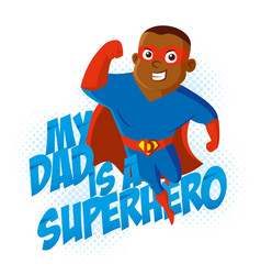 Superhero t-shirt kids vector