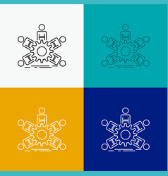 team group leadership business teamwork icon over vector image
