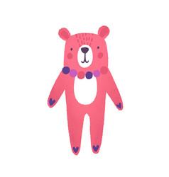 Teddy bear flat cute pink vector