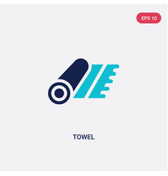 two color towel icon from furniture concept vector image