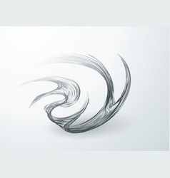 wavy lines on white background swirling in a fast vector image