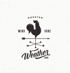 Windvane rooster abstract retro style sign vector
