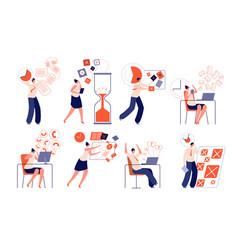 Work deadline fail corporate planning working vector