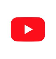 Youtube logo icon isolated on white background vector
