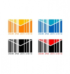 barcode letters vector image vector image