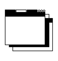 Black icon web window vector