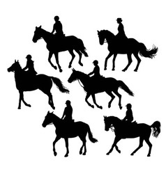 Equestrian Silhouettes vector image