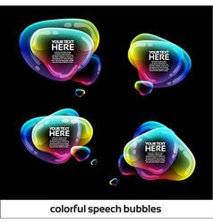 Glossy Speech Bubbles Design vector image vector image