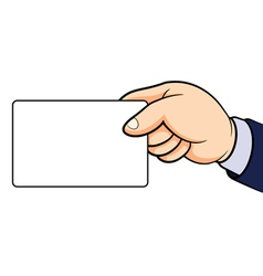 Hands holding card vector image vector image