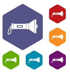 lantern icons set vector image