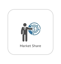 Market Share Icon Business Concept Flat Design vector image vector image
